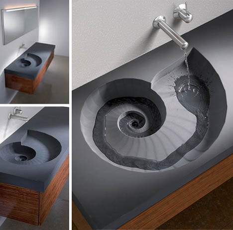 Unusual bathroom sinks for Odd shaped kitchen sinks