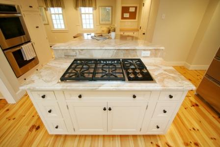 Kitchen Island With Cooktop massachusetts kitchen island ideas
