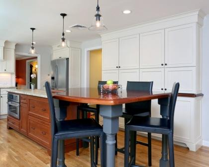 kitchen table island combination massachusetts kitchen island ideas 4801