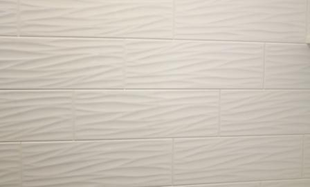 Patterned White Textured Tile