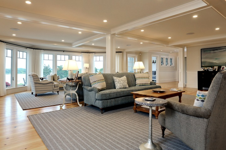 Encoreco cape cod home remodeling blending old and new for Cape cod living room design