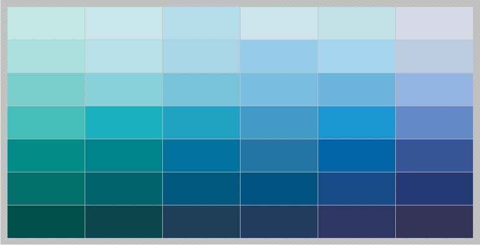 Encoreco the top guideline for paint color choices for Blue gray paint palette